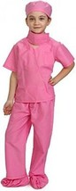 Dress Up America Pink Doctor Scrubs Toddler Costume Kids Doctor Scrub's Outfits - $42.52