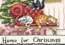 Home For Christmas Cat's Rule CHART ONLY cross stitch chart Heritage Crafts