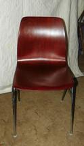 Retro Mahogany Plywood Desk Chair Sidechair - $199.00