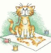 Self Pawtrait Cat's Rule 27ct Evenweave Kit cross stitch Heritage Crafts