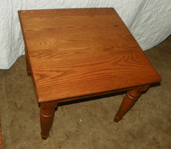 Solid Oak End Table or Side Table  (T266) - $275.00