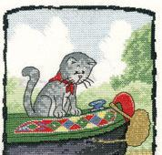Ahoy ! Cat's Rule 27ct Evenweave Kit cross stitch Heritage Crafts