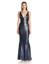 Dress the Population Women's Harper Sequin Sleeveless Plunging Long Gown - $242.15+