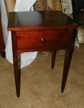 Solid Walnut Period Work Table with Drawer - $449.00