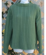 Large LL Bean Green Cotton Pullover Sweater - $5.00