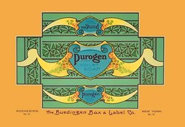 Purogen Toilet Soap by Buedingen Box & Label Co. - Art Print - $19.99+