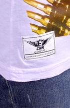 Cardboard Robot Women's Lilac or Gray Zebra Hunter Bullet Belt T-Shirt XS S NWT image 5