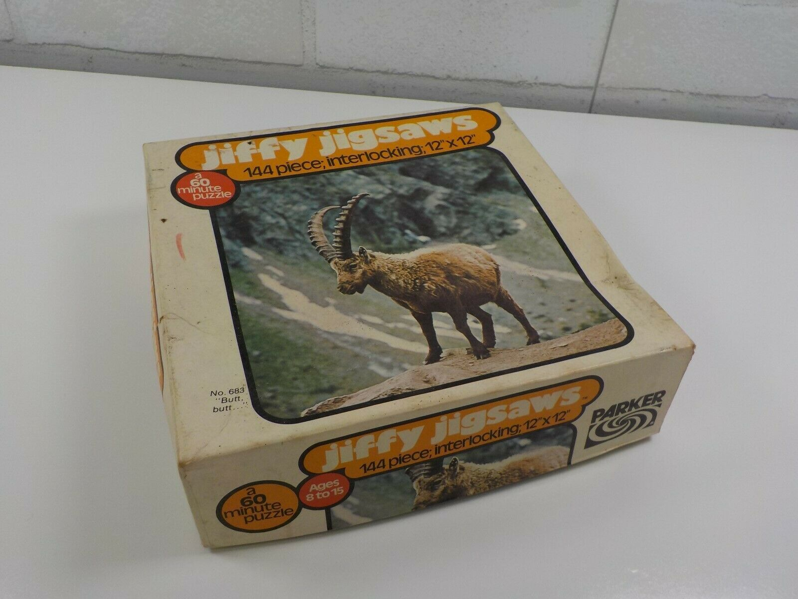 1970s Vintage Parker Bros 144 Piece Jiffy Jigsaw Puzzle Mountain Goat - $10.20