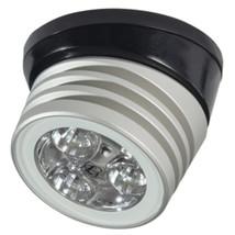 Lumitec Zephyr LED Spreader/Deck Light -Brushed, Black Base - White Non-Dimming - $116.49