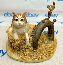 "Lowell Davis ""Cat and Jenny Wren"" Figurine 1989 Schmid 223633 Friends of Mine - $143.53"