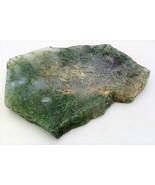 Green Moss Agate 1 Gemstone Slab Cabbing Rough - $7.88