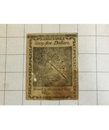 1779 Colonial Continental Currency Sixty Five $65 Dollar Note - $150.00