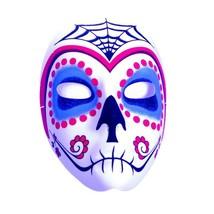 Underwraps Jour de The Dead Sucre Crâne Toile D'Araignée Mask Halloween ... - $11.57