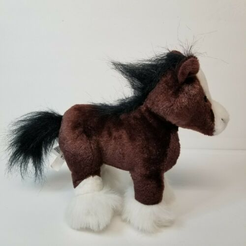 "Primary image for Ganz Plush Brown Horse Stuffed Animal 9"" Pony Clydesdale No Code"
