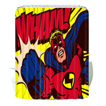 Batman Superhero Shower Curtains Bathroom Polyester Waterproof Bath 12 H... - $22.96+