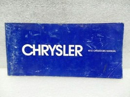 CHRYSLER CHRYS-STD 1972 Owners Manual 16338 - $18.76