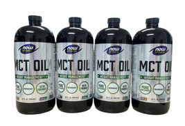 NOW Foods MCT Oil Weight Management 32 oz 100% Pure Exp 06/2022 Pack of 4 - $79.19