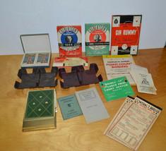 VINTAGE CARD GAME LOT CONTRACT BRIDGE BOOKS SCORING PADS BAKELITE CARD H... - $36.18