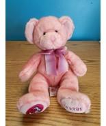 """Russ Berrie Taurus Pink Zodiac Teddy Bear doll 10"""" plush bean bag  - $16.78"""