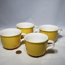 Set of 4 VTG Mikasa Everfresh Yellow C8300 Coffee Tea Cups Japan Discont... - $24.95
