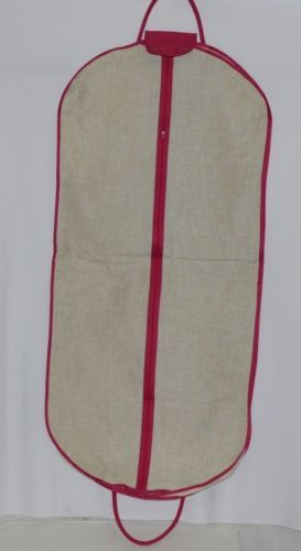 Mainstreet Collection LGBP0683 Linen Garment Bag Hot Pink Accents