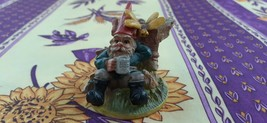 GNOME Bee & Beer Stein Hand Painted Figurine Geharo BV Drempt Holland Set  - $50.00