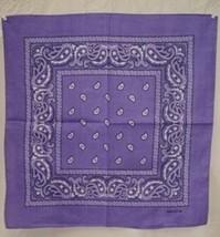 """Wholesale Lot 6 22""""x22"""" Paisley Light Purple Bandana - $14.88"""