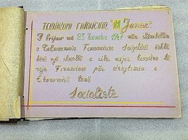 old albanian book photo-album Enver Hoxha propaganda-11JANARI school 1948 - $247.50