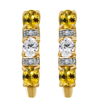 2.50 Ct Oval Citrine & Diamond 925 Silver Stud Earrings 14k Yellow Gold ... - $60.91