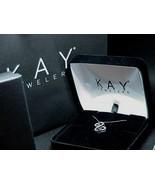 Kay Jewelers Jane Seymour Open Heart Diamond Necklace NEW BOX's & BAG - $178.19