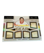 Terry Sawchuk In The Game Used Gear Jersey Patch 2/2 Red Wings HOF Leaf ... - $346.50