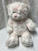 "White & Pink Build A Bear Teddy Bear Stuffed Plush 15"" Plushie Toy - $14.84"