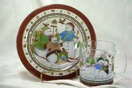 Princess House Cookies And Cocoa For Santa Plate And Mug Set - $13.49
