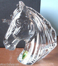 Waterford Crystal Horse Head Paperweight Sculpture 273594400 New In Box - $169.90