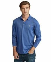 Polo Ralph Lauren BLUE HEATHER Soft Classic Long Sleeve Polo Shirt, US XXL - $44.54