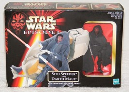 Nip 1998 Star Wars Episode 1 Sith Speeder And Darth Maul With Sith Probe Droid - $14.99