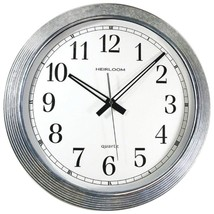Timekeeper 401ZWA 16 Galvanized Metal Silver Wall Clock - $50.09