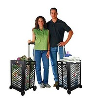 Grocery Shopping Cart On Wheels Folding Laundry Utility Storage School P... - $974,65 MXN
