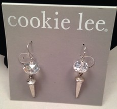 New Cookie Lee Crystal Drop Earrings w/Points - $10.73