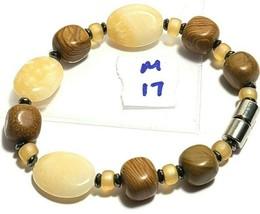 Beaded Bracelet Magnetic Hematite Clasp Single Strand   7.5 Inch   (MAG-017) image 2