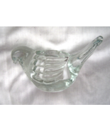 Small Clear Solid  Glass Bird Votive Candle Holder - $14.99