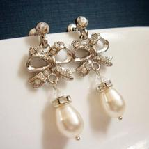 Bow Pearl Earrings - Tie the Knot Bridesmaid Gift - $25.00+