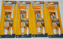 Arm Hammer Clinical Pet Care 3-Sided Dog Toothbrush Beef Toothpaste Lot ... - $11.99