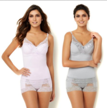 Rhonda Shear Pin-Up Lace Camisole 2-pack in Lilac/Grey, Small (527888) - $23.75