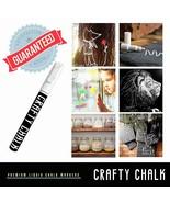 White Liquid Chalk Markers - 2 Pack 3mm Fine Tip Pen - Crafty Chalk - $7.67