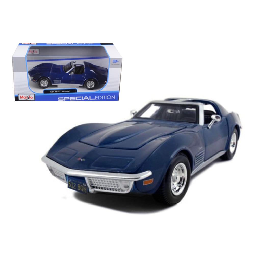 1970 Chevrolet Corvette Blue 1/24 Diecast Model Car by Maisto 31202bl