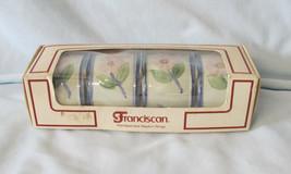 Franciscan Twilight Rose HTF Boxed set of 4 Napkin Rings - $98.89