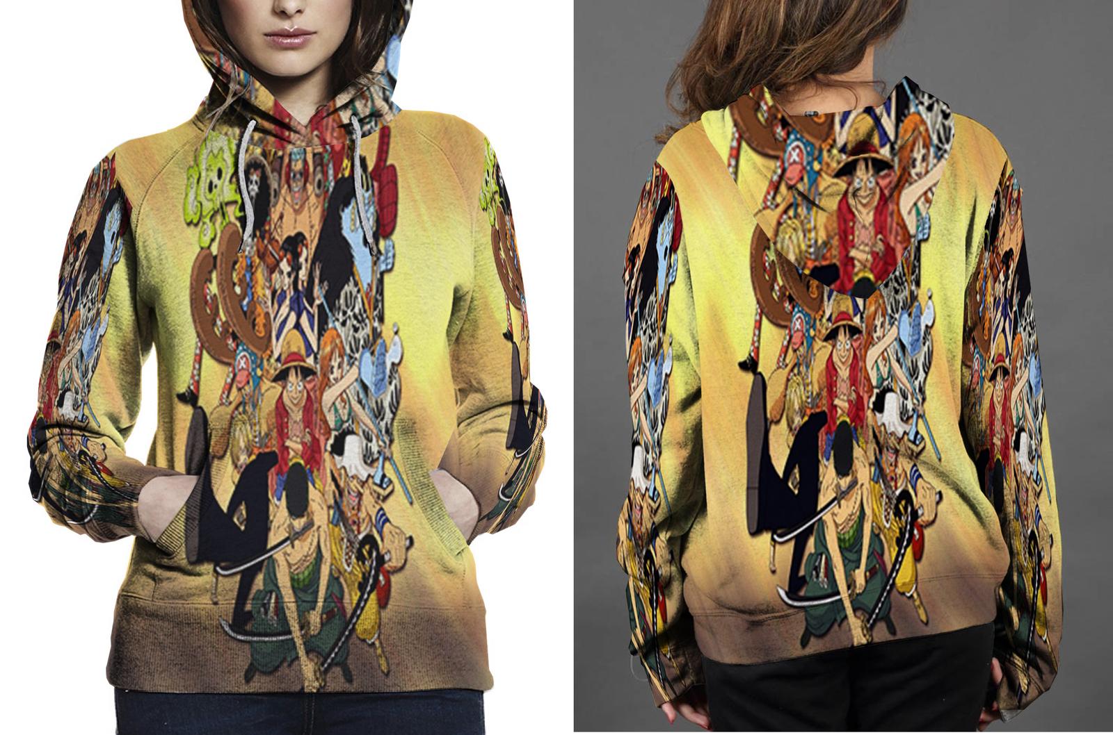 Piece anime hoodie women s