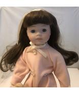 "Vintage Doll House Of Lloyd 1989 / 16"" Porcelain And Felt Cloth - $11.30"