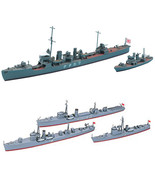 2 Ship Model Sets - 3 Ship Navy Auxiliary Vessels and IJN Destroyer Waka... - $26.72